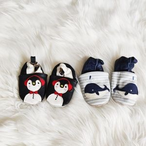 Baby bundle of two pairs of slip on shoes